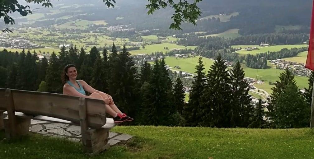 Eli on a scenic hill