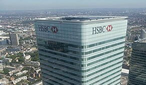 HSBC building in London