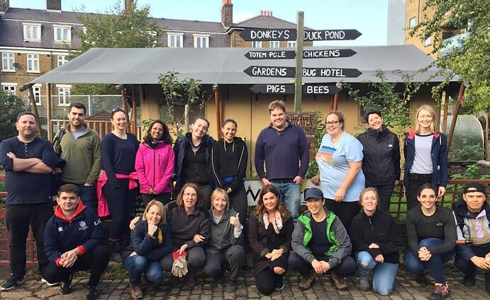 FundApps Volunteering at Spitalfields City Farm