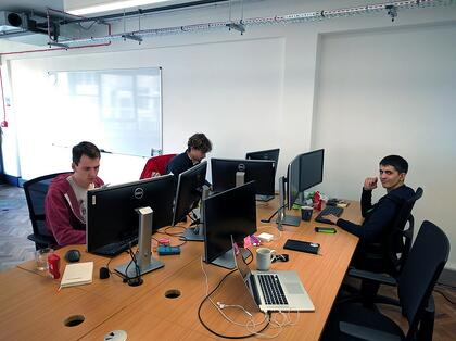 Patrick, James and Matt are developing some software.