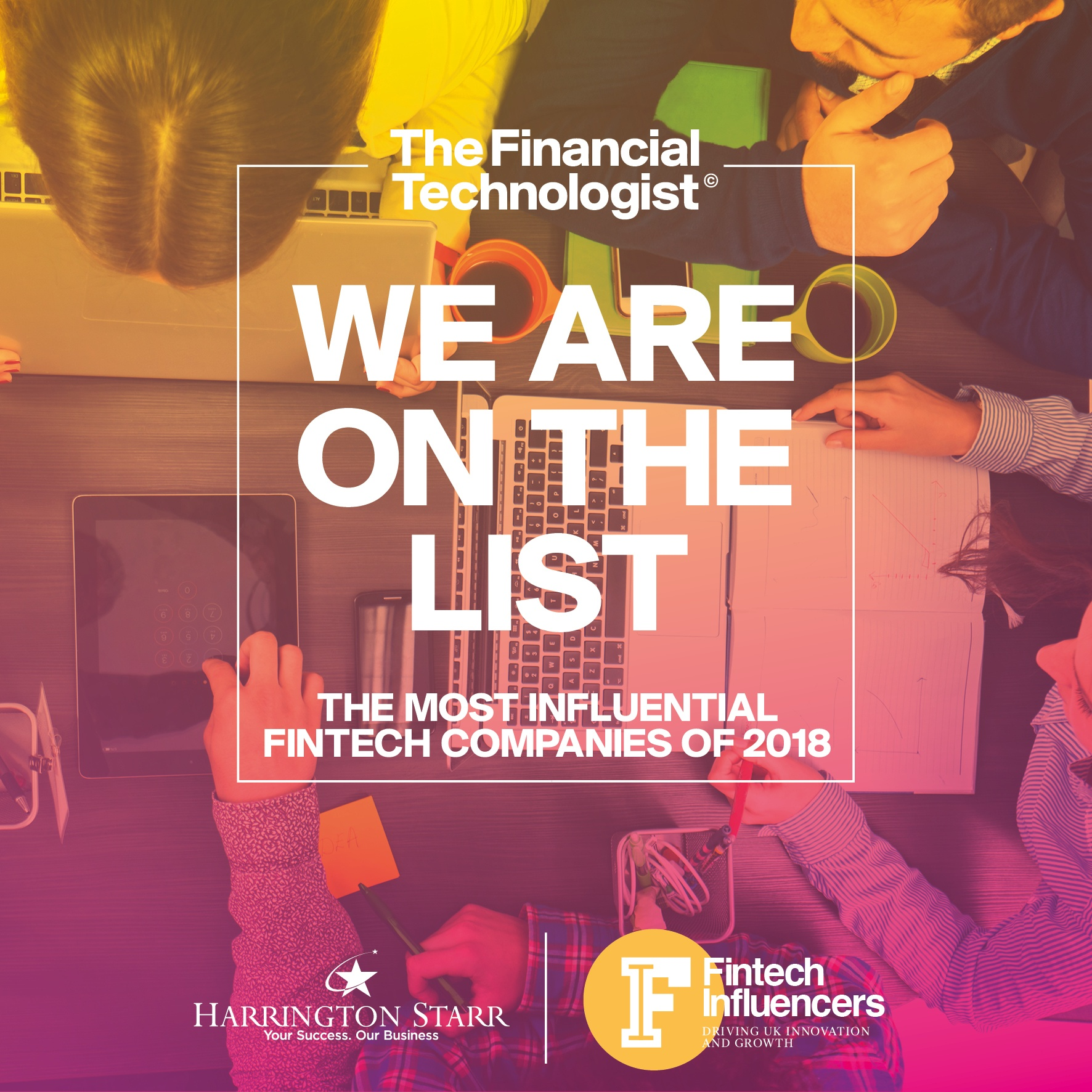 Harrington Starr's Definitive List of the 100 Most Influential FinTech Companies for 2018