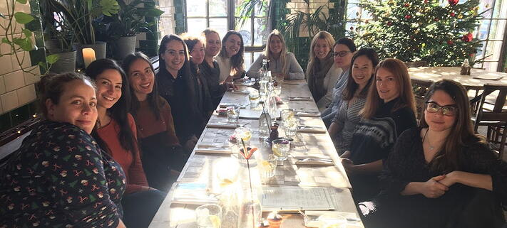 FundApps ladies at lunch