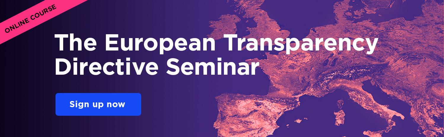The European Transparency Directive Seminar