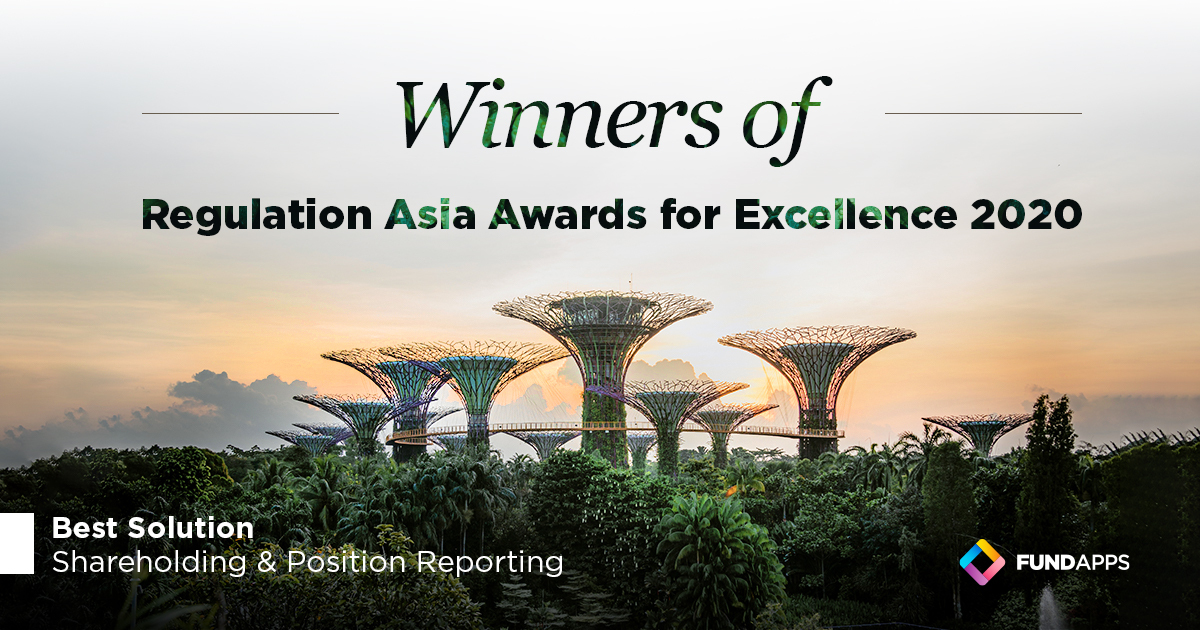 FundApps wins Regulation Asia Award 2020