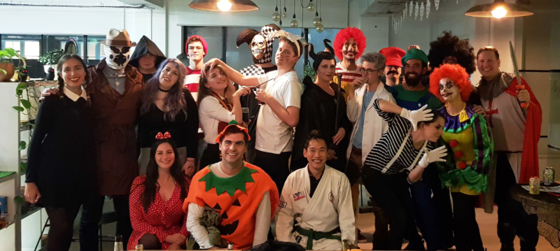 The FundApps team dressed up for Halloween