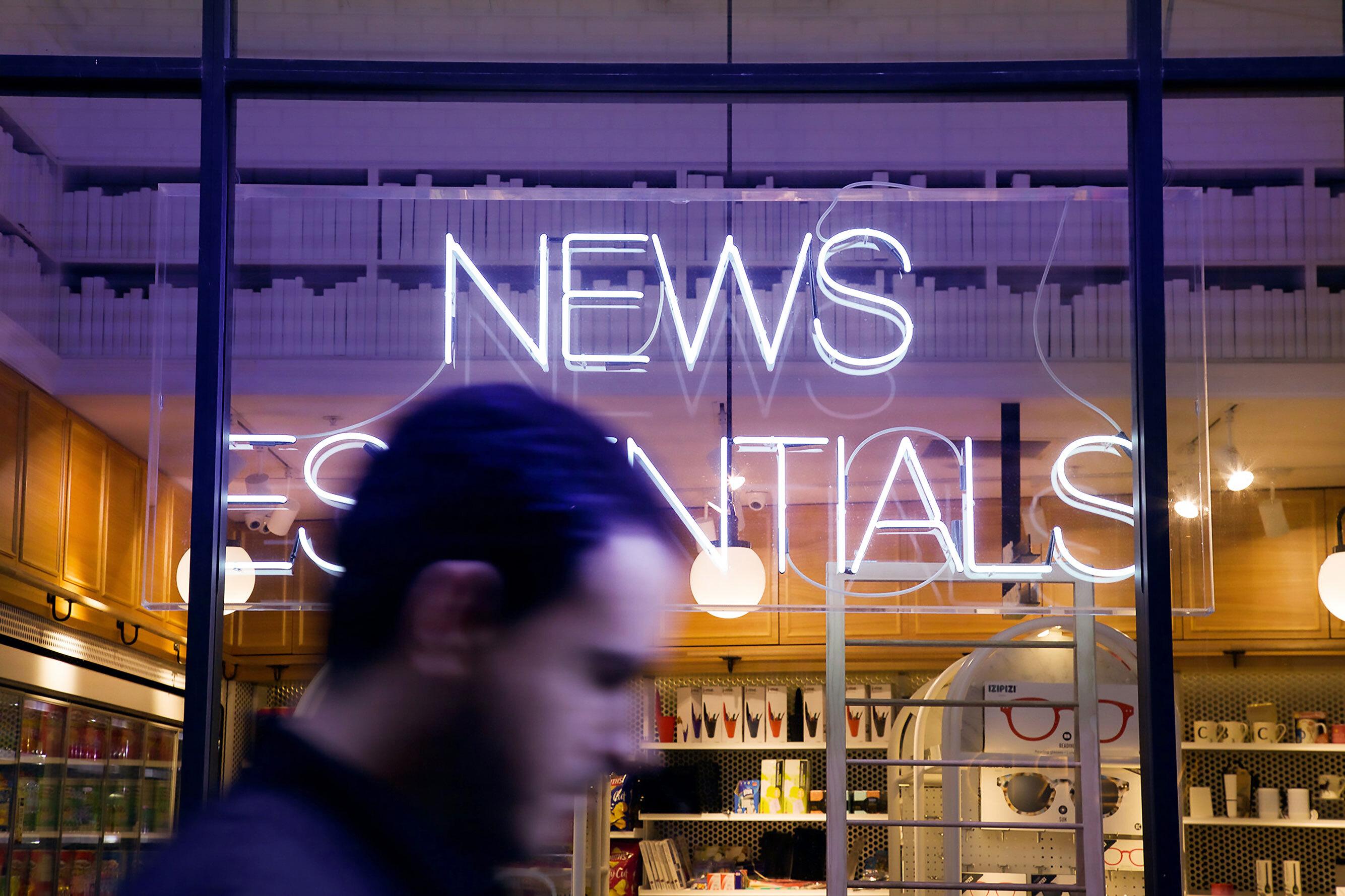 Neon news sign