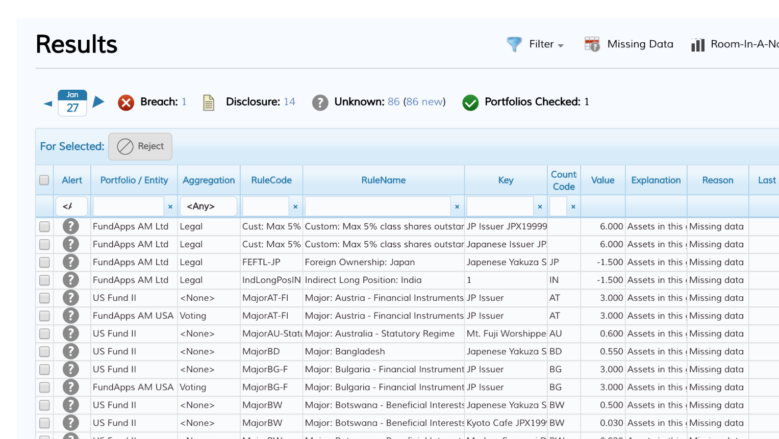 Screenshot of our Shareholding Disclosure service
